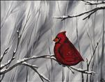 *Coffee n Canvas* Snowy Cardinal