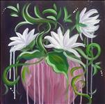 **HAPPY HOUR - SMALL CANVAS** Dripping Lilies