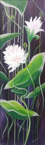*10x30 Canvas* Dripping Lilies