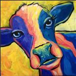 "Ms. Maizy Moo *12""x12"" Canvas*"
