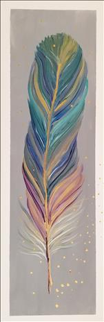*10x30 Canvas* Pastel Feather