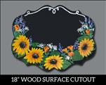 Customized Floral Chalkboard Plaque Cutout
