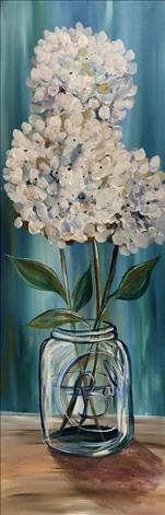Simply Hydrangeas Long Canvas! $2 off wine bottles