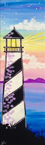 NEW SIZE 10 x 30 - Twilight Lighthouse