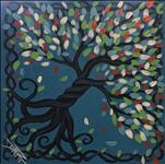 Tree of Life on Turquoise *12x12 Canvas*