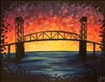 Cape Fear Bridge Vibrant Sunset