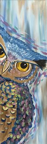 **TALL CANVAS** Peekaboo Owl