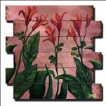 Lilies on Pink Pallet, Canvas, or Wood Board