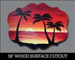 Beach Sunset Cutout