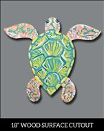 Pastel Sea Turtle Cutout