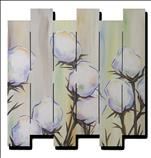 Pastel Cotton Blossoms Wood Pallet