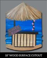 Tiki Hut Room Sign Cutout (13+)