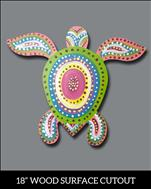 Aboriginal Turtle Cutout **Evening**