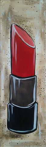 Ladies Night: Red Lipstick 10x30 Canvas $35