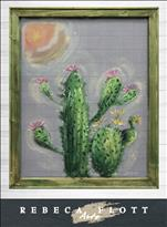 SCREEN ART!  RebecaFlottArts - Love Cactus $45