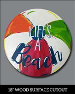 Cutout Special - Beach Ball Cutout -$10 Off