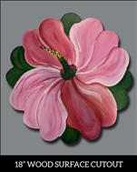 Hibiscus Wooden Cutout