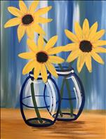 AFTERNOON ART: Happy Little Sunflowers