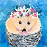 "Cutie Pie the Hedgehog - 12"" x 12"" CANVAS"