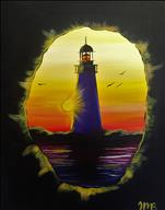 Lighthouse at Sunset-2 x Painters Points