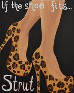 Strut, Pre-sketched, Customize your shoe therapy!