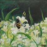 **SMALL CANVAS** Honeysuckle Bee