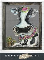 SCREEN  ART! RebecaFlottArts - COW $45