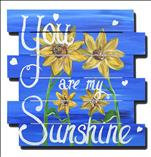 Twin Sunflowers - WOOD PALLET - PERSONALIZE IT!
