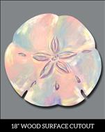 Pastel Sand Dollar Cutout (NEW PRODUCT! NEW ART!)