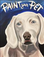 Paint Your Pet on a 16X20 Canvas- $55