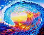Love Surf at Sunset Single Canvas