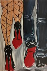 **10x30 LONG CANVAS!** Steppin in Red Bottoms Set