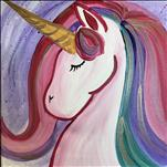 Unicorn Splatter on a 12x12 Canvas- All Ages-$30