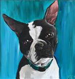 Paint your Pet 12x12 - Boston Terrier