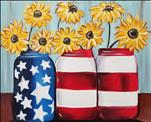 Patriotic Mason Jars on Canvas - YOU PICK! (2X PP)