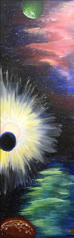 *Teen Friendly 10x30 Canvas* Galactic Eclipse