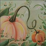 *12x12 Canvas* Pastel Pumpkins