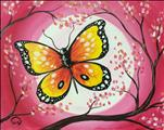 Butterfly On A Pink Moon!