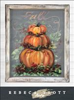 Rebeca Flott Screen Art - The Pumpkin Parade