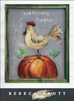 Rebeca Flott Screen Art - Good Morning Pumpkin