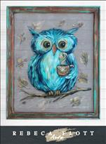 Rebeca Flott Screen Art - Owl Always Love You