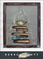 "Coffee N Canvas! Screen Art ""Arts Books, Coffee"""