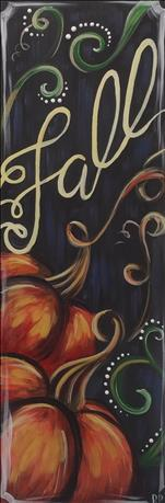 Open Class - ENCORE Pumpkin in Fall - 10x30 Canvas
