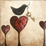 Unlock My Heart on 12 x 12 Canvas