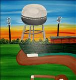 A Night Of Pelican's Baseball - Single Painting