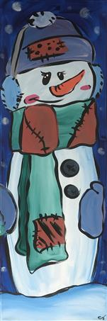 Patchwork Snow Buddies *Same Room*Pick Canvas Type