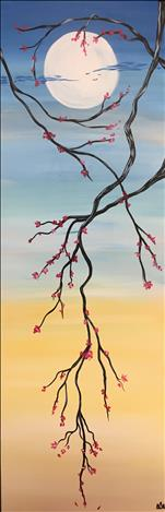 10 x 30 CANVAS - Spring Moon Blooms