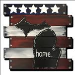 **WOOD CUT OUT** Proud of MI Home!