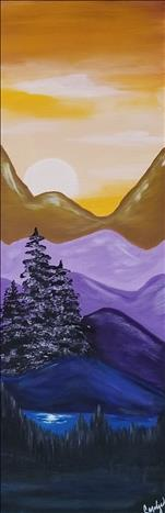 Mystic Mountain 1st Canvas of 3