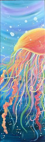**TALL CANVAS - SEA LIFE SERIES** Vivid Jellyfish